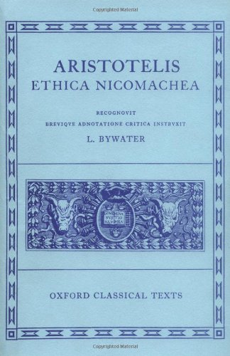 Aristotle Ethica Nicomachea (Oxford Classical Texts)