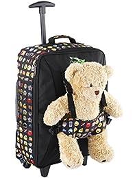 Cabin Max Bear, Trolley da Viaggio per Bambini, con Cinghie Esterne per Bambole/Peluche