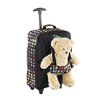 Cabin Max Bear – Maleta con Ruedas para Niños Bolso para Osito de 50 x 34 x 20 cm (20 x 13,5 x 8 Pulgadas) – 33 L – ¡Ligera! (Emoji)