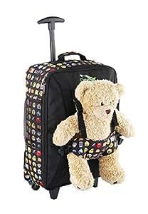 Cabin Max Bear, trolley da viaggio per bambini, con cinghie esterne per bambole/peluche (Emoji)