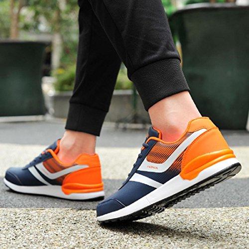 Uomo Scarpe sportive impermeabile Scarpe da viaggio Escursionismo Taglia larga formatori all'aperto Escursionismo black orange