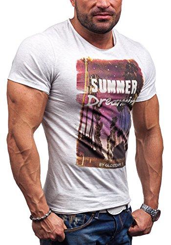 GLO STORY - T-shirt con maniche corte �?GLO STORY 7478 �?UOMO Grigio