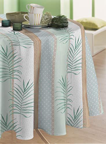 lavabile plastificata Tovaglia in tela cerata personalizzabile S/ättige motivo: fiori dai colori turchesi Rund 100cm asciugamani Best/ändige Farben