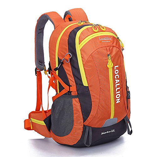 All'aperto alpinismo borsa capiente zaino zaino uomini e donne ambulanti impermeabili , green Orange