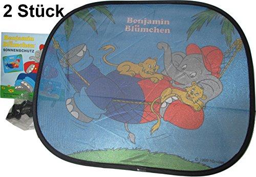 Preisvergleich Produktbild Benjamin Blümchen Sonnenschutz / Sonnenblende / Scheibenschutz für´s Auto 2er Set