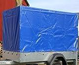 Stema Spriegel Plane Set 750 blau Hochplane für PKW Anhänger 1,00 Meter