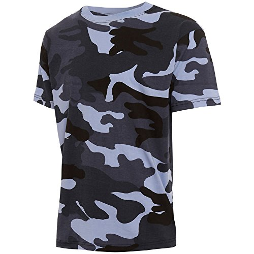 Herren Camouflage Militär Army Print Combat T-shirt Top DPM Camo Special Ops Out, - ARMY MIDNIGHT (blue/grey) CAMO, XL -