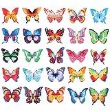BESTONZON Set di 100 cialde di carta commestibile farfalla CakeCupcake Toppers colori assortiti decorazione cibo