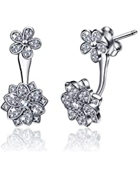 Silver Dangle Earrings, 925 Sterling Silver Tree of Life Drop Earrings for Women, AEONSLOVE Gift Jewellery for Ladies Girls