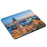 PhotoFancy - Mousepad Hamburg - Städte-Mauspad mit Motiv Landungsbrücken mit Hafen