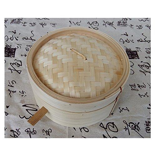 Hong kong-style vaporera de bambú con barras Hotel Restaurante Dumplings Snack pequeño Steamer comercial pequeñas ollas de vapor dos + un tapa, 20 cm