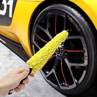 junkai Felgenbürste mit Soft Schwamm zur effektiven Felgenreinigung von Alufelgen Bürste für Reinigung Auto Felge 2 Stück