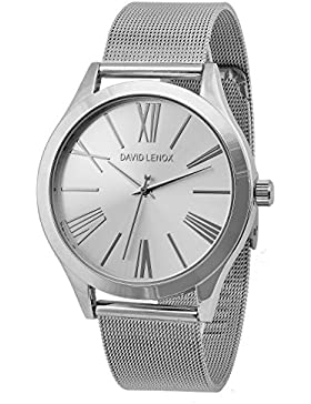 David Lenox Silber Ton Damen Armbanduhr Michael Kors Runway Collection Style dl0330