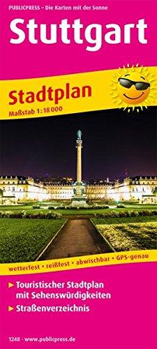Stuttgart: Touristischer Stadtplan mit Sehenswürdigkeiten und Straßenverzeichnis. 1:18000 (Stadtplan / SP)