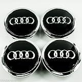 4x Kappen 68mm Radkappen Nieten Circles Audi A1A3A4A5A6Q3Q5Q7