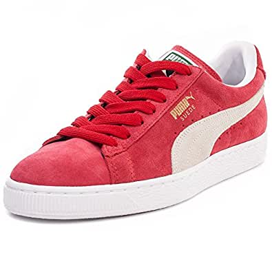 Puma Classic Unisex Suede Trainers Red White - 7 UK