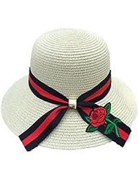 Sombrero Plegable Del Sombrero Del Cubo Del Bordado Ancho Del Ajuste De La  Flor Del Verano 08029b5d7e1