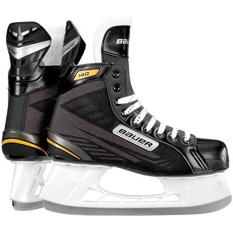 Bauer Schlittschuhe Supreme 140 - Senior - Patines de hockey sobre hielo, color negro, talla 07.0 / 42.0