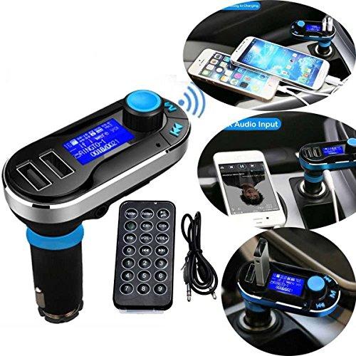 5in1 drahtlose Bluetooth Car Music-Player-FM Transmitter Dual USB KFZ-Ladegerät Unterstützung SD / TF Karte Freisprechen für iPhone6 6S 6Plus 5s Samsung Galaxy HTC, LG, Sony Ipad Pro Tablets Mp3 Mp4 Player (Silber) Fm-transmitter Iphone6