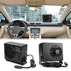 LeKing 2 in 1 Riscaldatore per Auto Universale DC12V Electric Car SUV Veicoli Riscaldamento Portatile in Ceramica Riscaldamento Essiccatore Scaldino Ventola Defogger Defroster 300 W