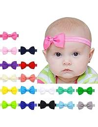 Malloom Bebé niños niñas Bowknot Mini diadema elástica venda