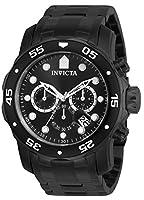 Invicta 0076 Pro Diver - Scuba Reloj para Hombre acero inoxidable Cuarzo Esfera negro de Invicta