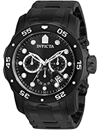 Invicta Pro Diver Men's Chronograph Quartz Watch with Stainless Steel Bracelet – 0076