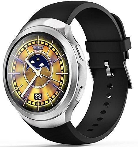 LEMFO LES2 - 3G Smartwatch Telefon Android 1GB + 16GB Pulsmesser GPS Wifi Bluetooth Armbanduhr Silber 16 Gb Gps
