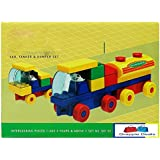 GRAPPLE DEALS Kinder Blocks Car, Tanker And Dumper Set - Interlocking Architectural Set For Kids.(Multicolor)