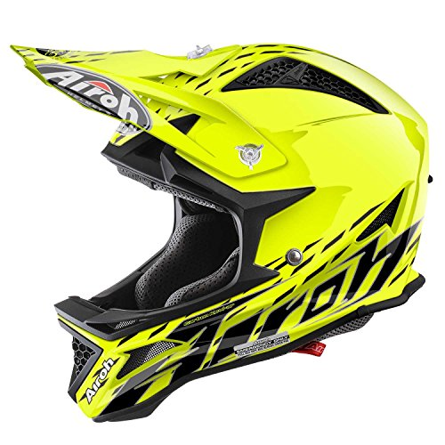 Airoh BMX Helm Fighters, Trace Gelb, 58 cm (T-shirt Gelbes Fighter)