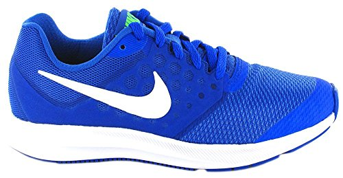 Nike Zapatillas Downshifter 7 (Gs) Mega Blue/White Green Strike R, Scarpe da Fitness Donna blu - bianco