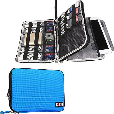 Doble Capa Travel Gear Organizador / Electrónica Accesorios Bolsa / caso del cargador de batería, Ajuste para el iPad / iPad Mini Aire / iPad (L,