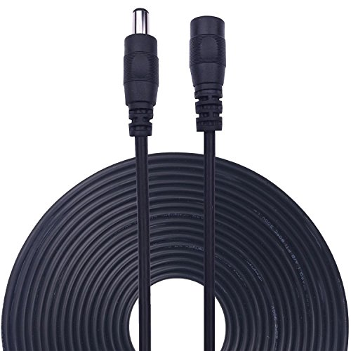 Preisvergleich Produktbild Kabenjee 2x 10m/33ft DC-Netzteil-Verlängerungskabel,5.5mm x 2.1mm DC Verlängerung Verbinder Draht für LED Streifen-CCTV-Überwachungskameras-Auto,Monitore-Ip Kamera DVR,AHD Überwachungskamera Systeme