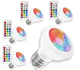 (4 Pack) LED RGBW Lampen, Sunpion® 3W E27 Glühlampen LED Deckenstrahler Einbauleuchte Dimmbar Glühbirne,RGB+6000K Coolwhite inklusive Fernbedienung, Farbwechsel Lampen(4Pack E27 RGB+6000K)