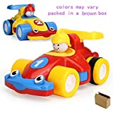 2Pcs Mini Push and Go Racing Cars Toys for Toddlers Babies Kids Boys, Random Color