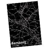 Mr. & Mrs. Panda Postkarte Stadt Bamberg Stadt Black - Stadt Dorf Karte Landkarte Map Stadtplan Postkarte, Postkarten, Einladungskarte, Geschenkkarte, Brief, Spruch des Tages, Kärtchen, Geschenk, Karte, Papier, Einladung, Fan, Fanartikel, Souvenir, Andenken, Fanclub, Stadt, Mitbringsel