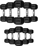 TNP Accessories Rubber Hexa Hex Dumbbells Weight Set Solid Dumbbell (20KG)