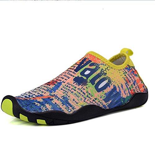 NAN Chaussures de natation unisexe tissu élastique supérieure + caoutchouc antidérapant semelle Creek chaussures multifonctions chaussures de plage en plein air doux chaussures à séchage rapide amortissement des chaussures de tapis roulant wading chaussures séchage rapide