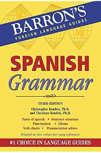 Spanish Grammar: Beginner, Intermediate, and Advanced Levels