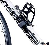 Mini Fahrradpumpe mit Manometer - Presta und Schrader Ventil Kompatibel - Hoher Druck 8,3 Bar (120 PSI) - zuverlässig, kompakt & leichte Rahmenpumpe mit Druckmessgerät - Beste Qualität - Mini Pumpe für Straßenfahrräder, Mountainbike und Rennrad (schwarz) -