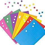Selbstklebende Mosaik-Quadrate aus Schaumstoff zum Basteln und Aufkleben für Kinder - 2000 Stück