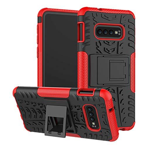 betterfon | Outdoor Handy Tasche Hybrid Case Schutz Hülle Panzer TPU Silikon Hard Cover Bumper für Samsung Galaxy S10e SM-G970 Rot Hybrid Case Rot