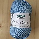 Gründl Cotton Quick Uni, Vorteilspack 10 Knäuel, himmelblau Handstrickgarn, Baumwolle, 29 x 12 x 7 cm,