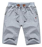 H&E Mens Soft Baggy Elastic Waist Drawstrings Beach Sport Shorts X-Small Grey
