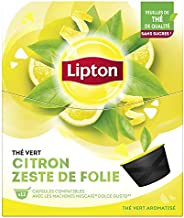 Lipton Thé Vert Citron Zeste de Folie, Capsules Compatible Nescafé Dolce Gusto, Label Rainforest Alliance 48 C