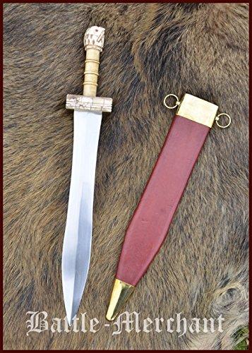 sch-Römisches Kurzschwert mit Scheide echt Stahl Griechen Römer Antike (Römischer Dolch)
