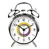 FAN4ZAME High-End elegante piccola sveglia creativa moderna Arcobaleno Anello semplice Silenzioso luminoso lampada Moda Bedside Alarm Clock C