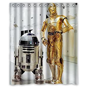 star wars r2d2 roboter duschvorhang x 60 cm amazon. Black Bedroom Furniture Sets. Home Design Ideas