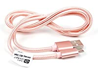 DURAGADGET Rose Gold Micro USB Data Sync Cable For aLLreli Rechargeable SPY 8GB 650Hr Digital Audio Voice Recorder Dictaphone MP3 Player