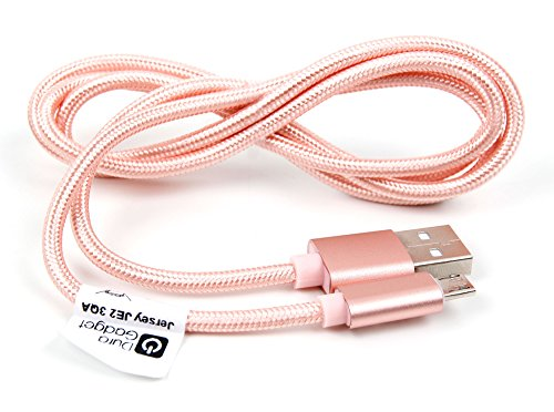 DURAGADGET Rose Gold Micro USB Data Sync Cable for Lexibook Tablet Master 3 MFC163FR Tablet Ultra 3 XL MFC191FR Tablet Kids MFC142FR